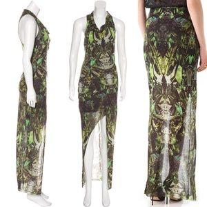Helmut Lang: Cicada Print Maxi Dress